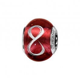 Charms murano infini, rouge